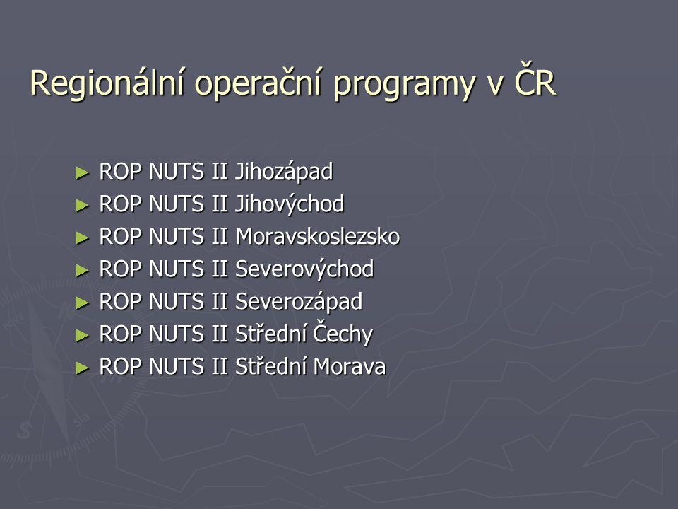 Regionální operační programy v ČR