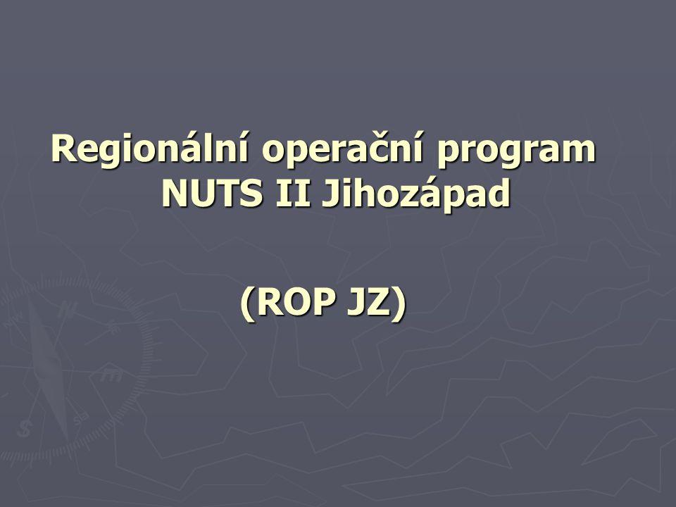 Regionální operační program NUTS II Jihozápad