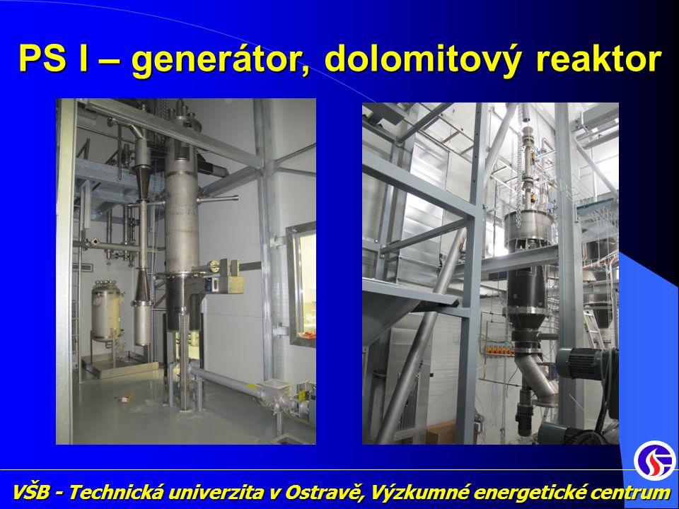 PS I – generátor, dolomitový reaktor