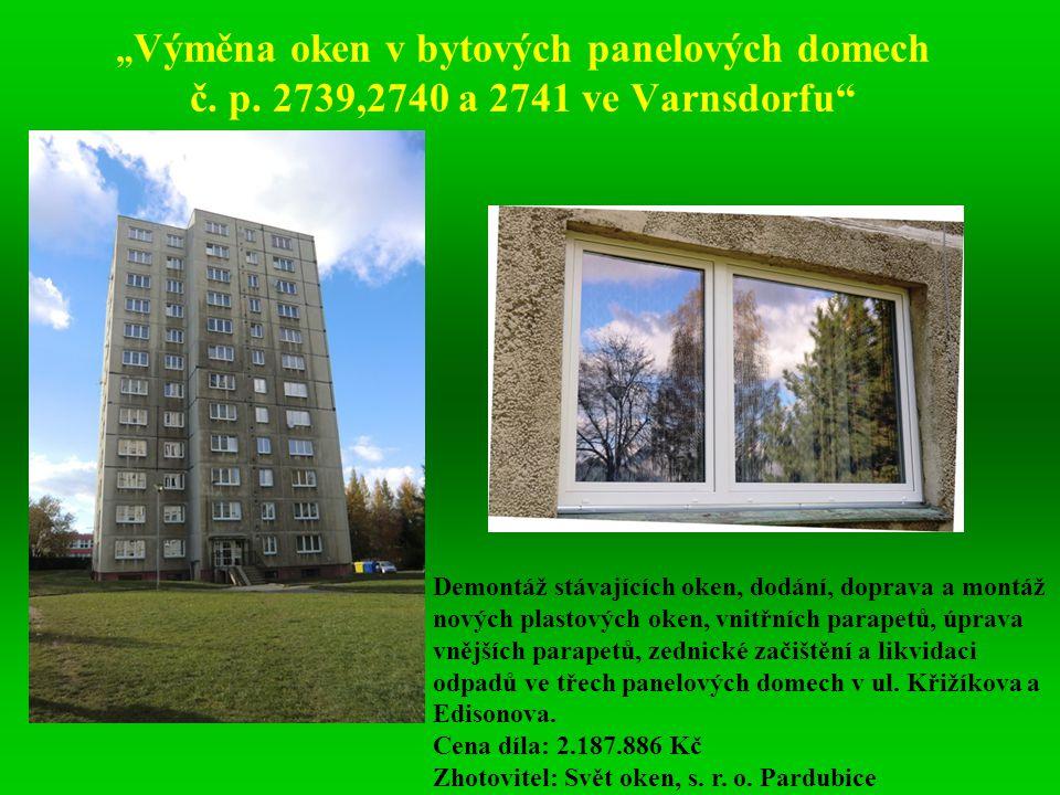 """""""Výměna oken v bytových panelových domech č. p"""