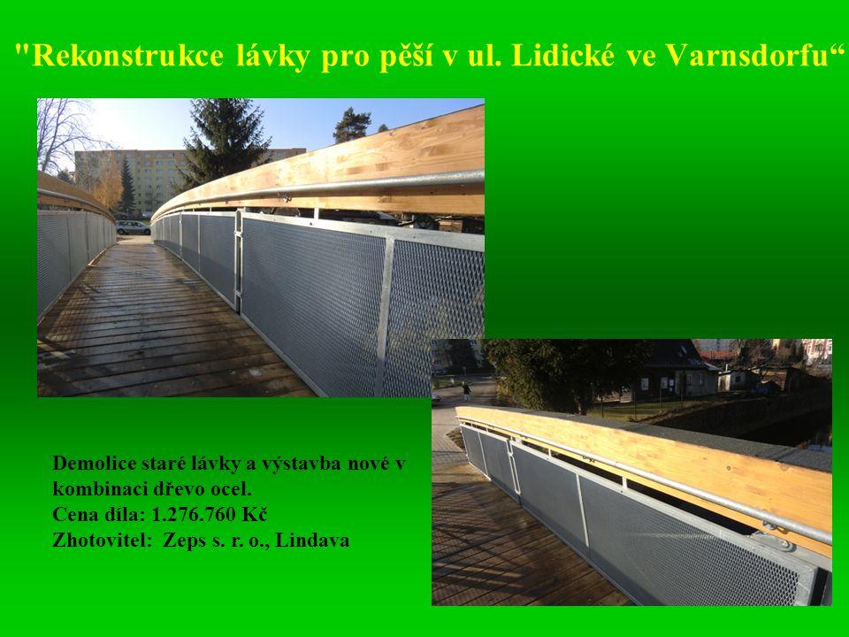 Rekonstrukce lávky pro pěší v ul. Lidické ve Varnsdorfu
