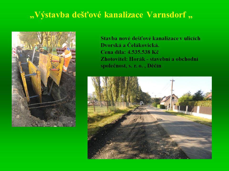 """""""Výstavba dešťové kanalizace Varnsdorf """""""
