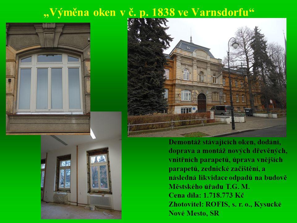 """""""Výměna oken v č. p. 1838 ve Varnsdorfu"""