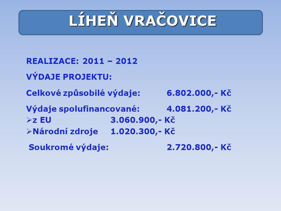 LÍHEŇ VRAČOVICE REALIZACE: 2011 – 2012 VÝDAJE PROJEKTU: