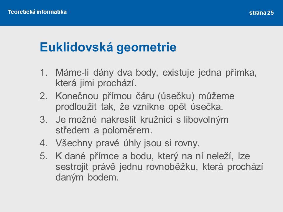 Euklidovská geometrie