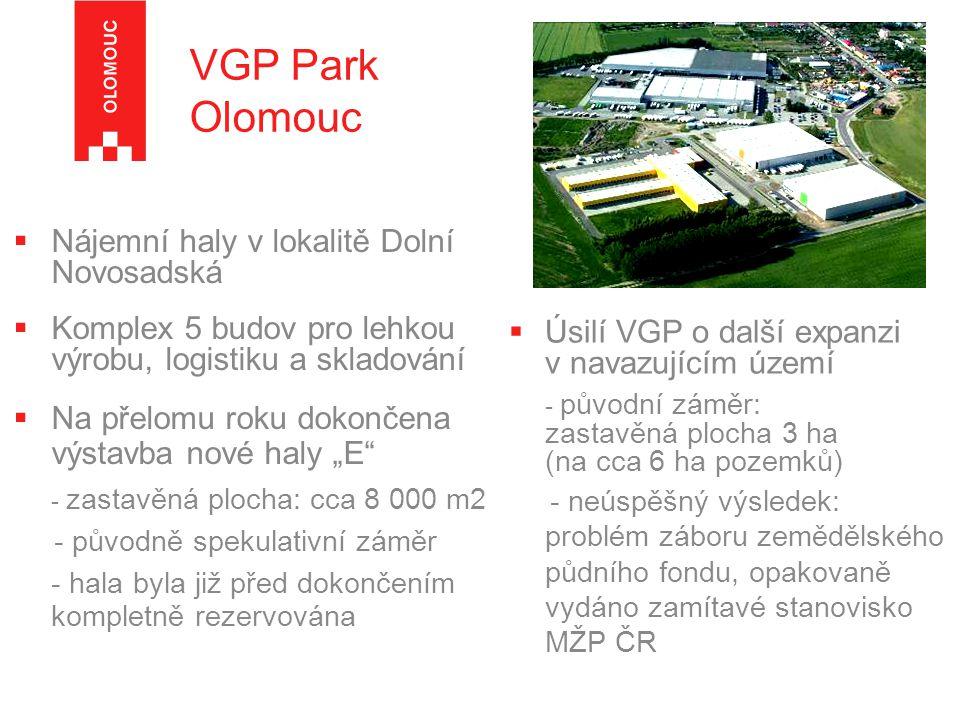 VGP Park Olomouc Nájemní haly v lokalitě Dolní Novosadská
