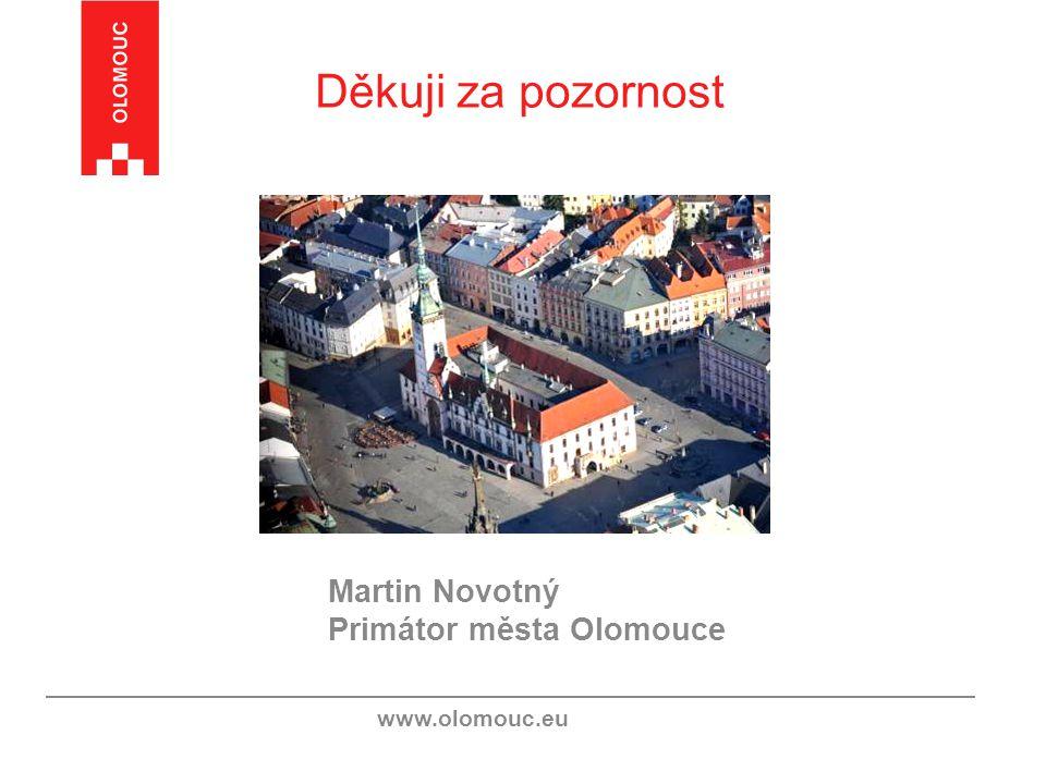 Děkuji za pozornost Martin Novotný Primátor města Olomouce