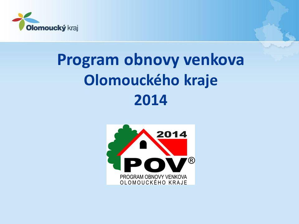 Program obnovy venkova Olomouckého kraje 2014