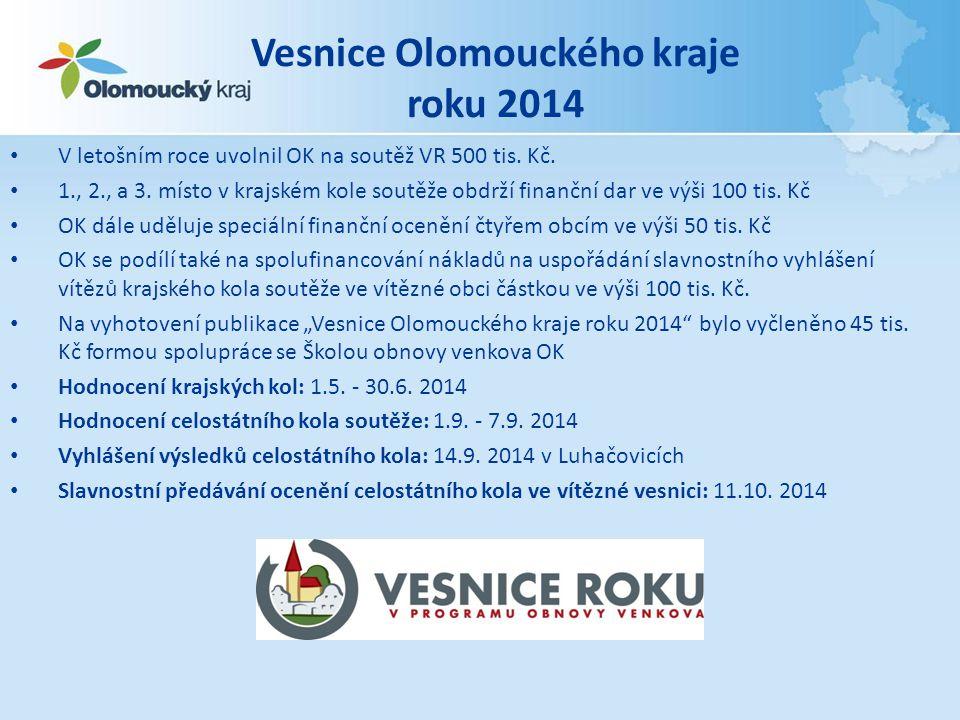 Vesnice Olomouckého kraje roku 2014