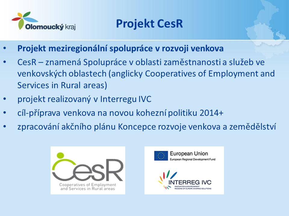 Projekt CesR Projekt meziregionální spolupráce v rozvoji venkova