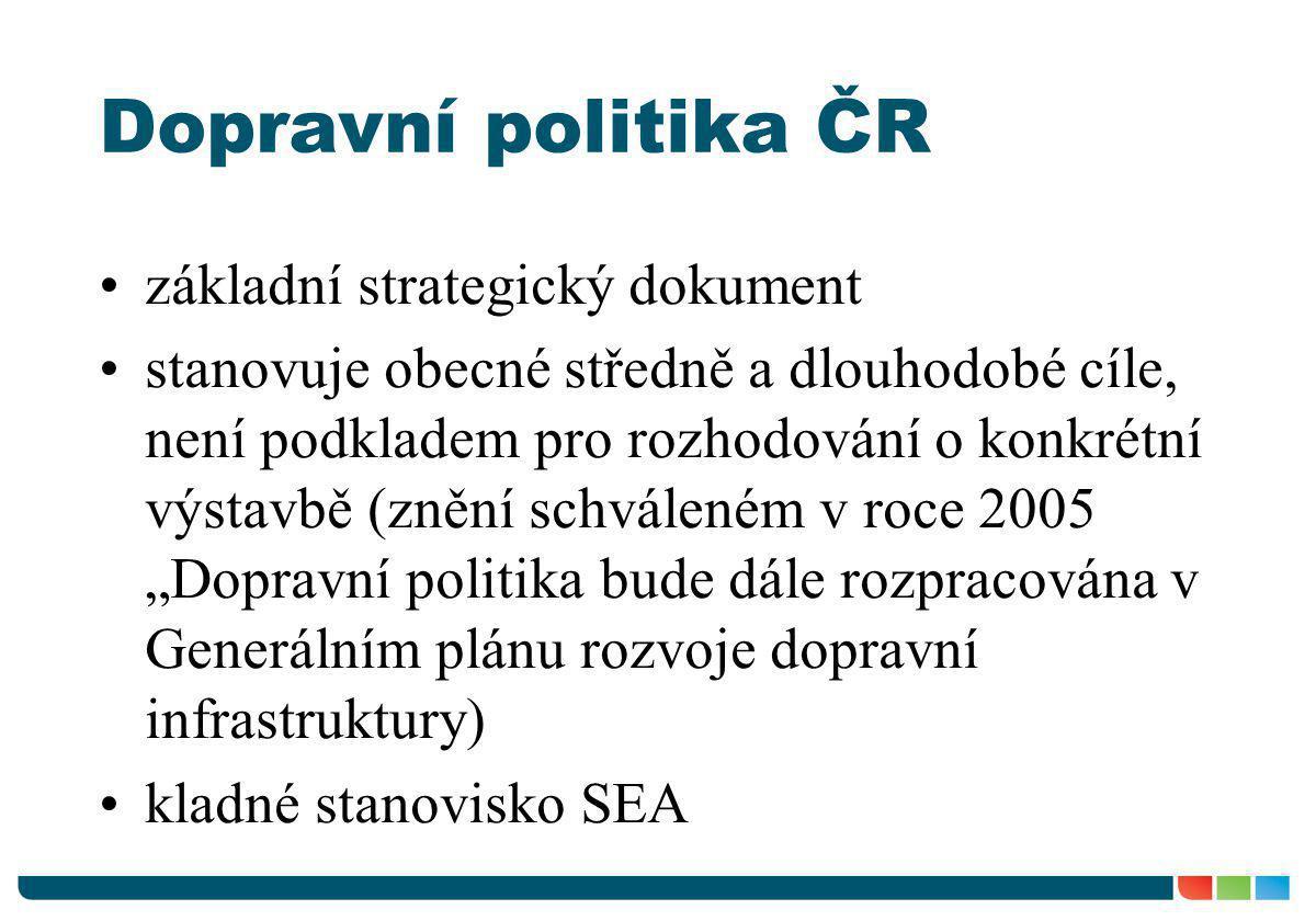 Dopravní politika ČR základní strategický dokument