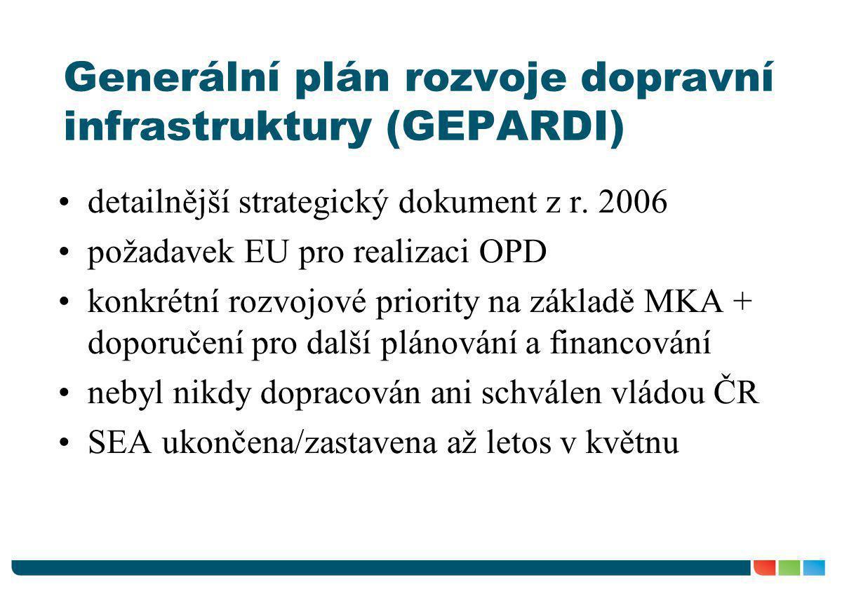 Generální plán rozvoje dopravní infrastruktury (GEPARDI)