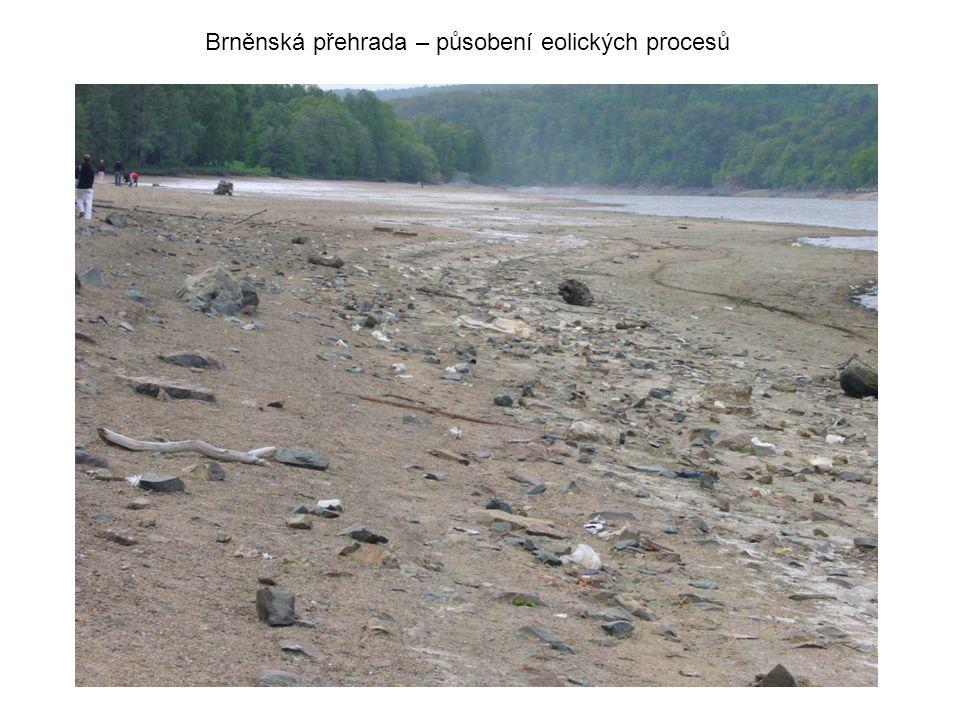 Brněnská přehrada – působení eolických procesů