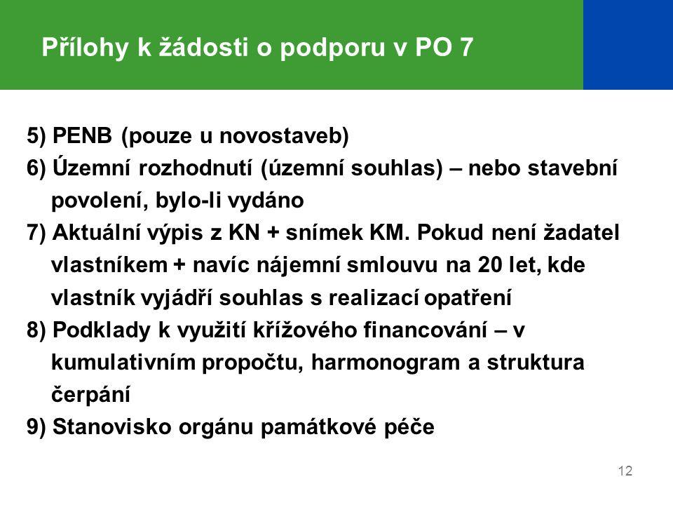 Přílohy k žádosti o podporu v PO 7