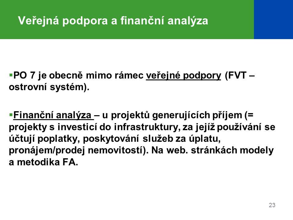 Veřejná podpora a finanční analýza