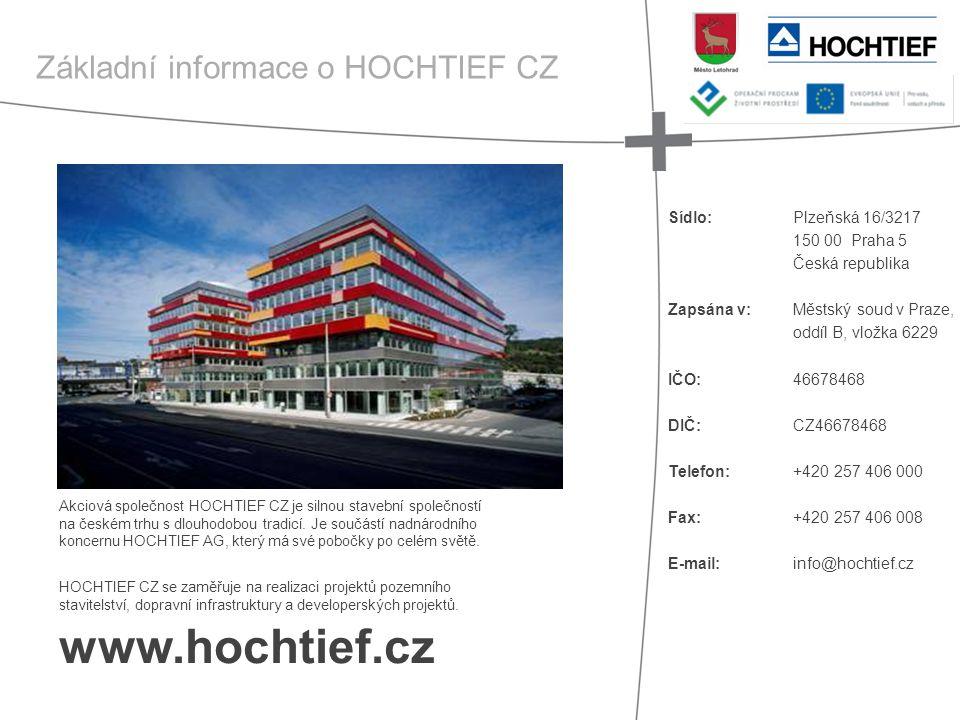 www.hochtief.cz Základní informace o HOCHTIEF CZ Plzeňská 16/3217