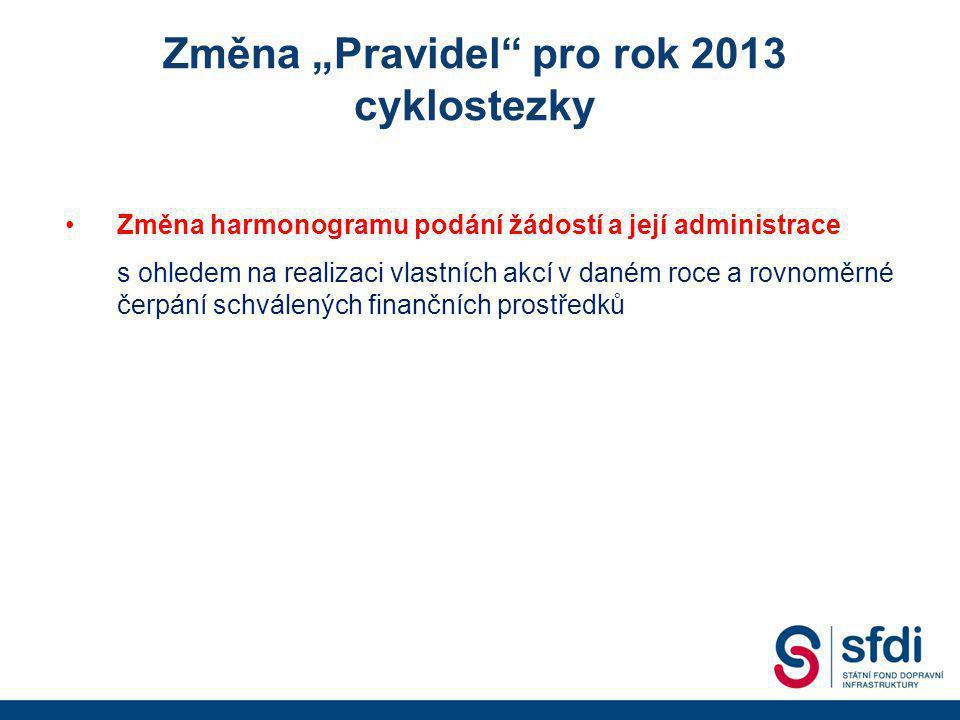 """Změna """"Pravidel pro rok 2013"""