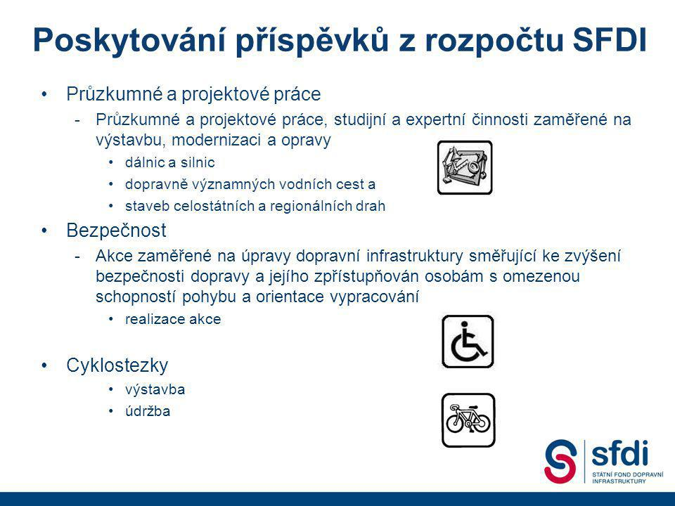 Poskytování příspěvků z rozpočtu SFDI