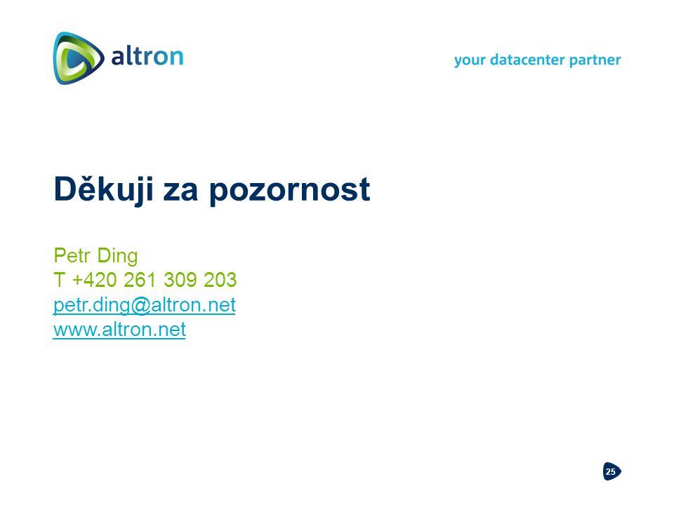 Děkuji za pozornost Petr Ding T +420 261 309 203 petr.ding@altron.net