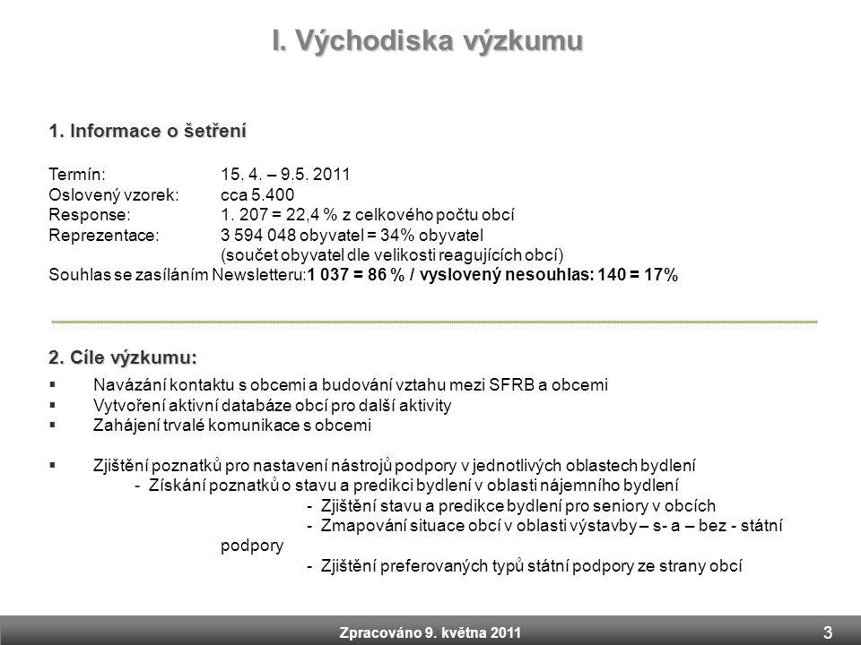 I. Východiska výzkumu 1. Informace o šetření 2. Cíle výzkumu: