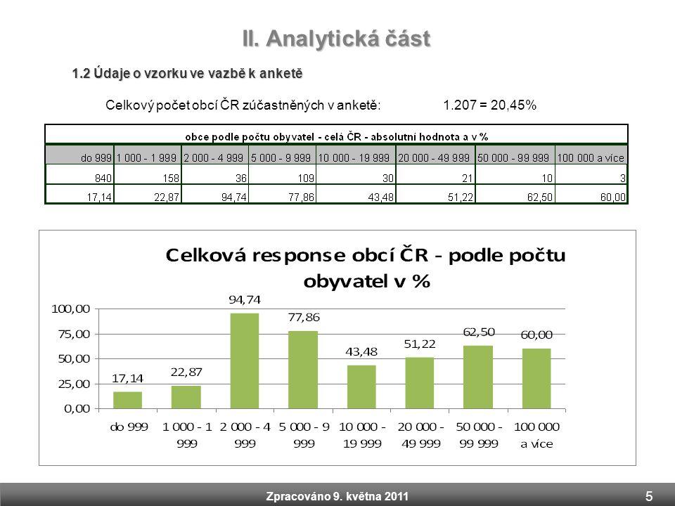 II. Analytická část 1.2 Údaje o vzorku ve vazbě k anketě