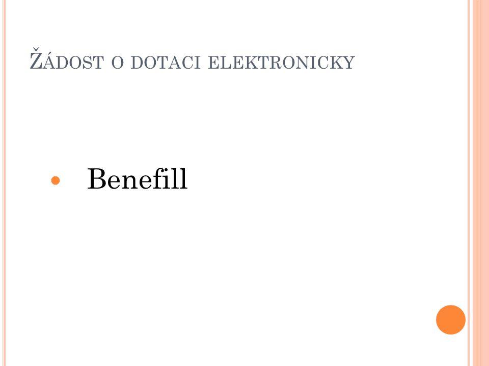 Žádost o dotaci elektronicky