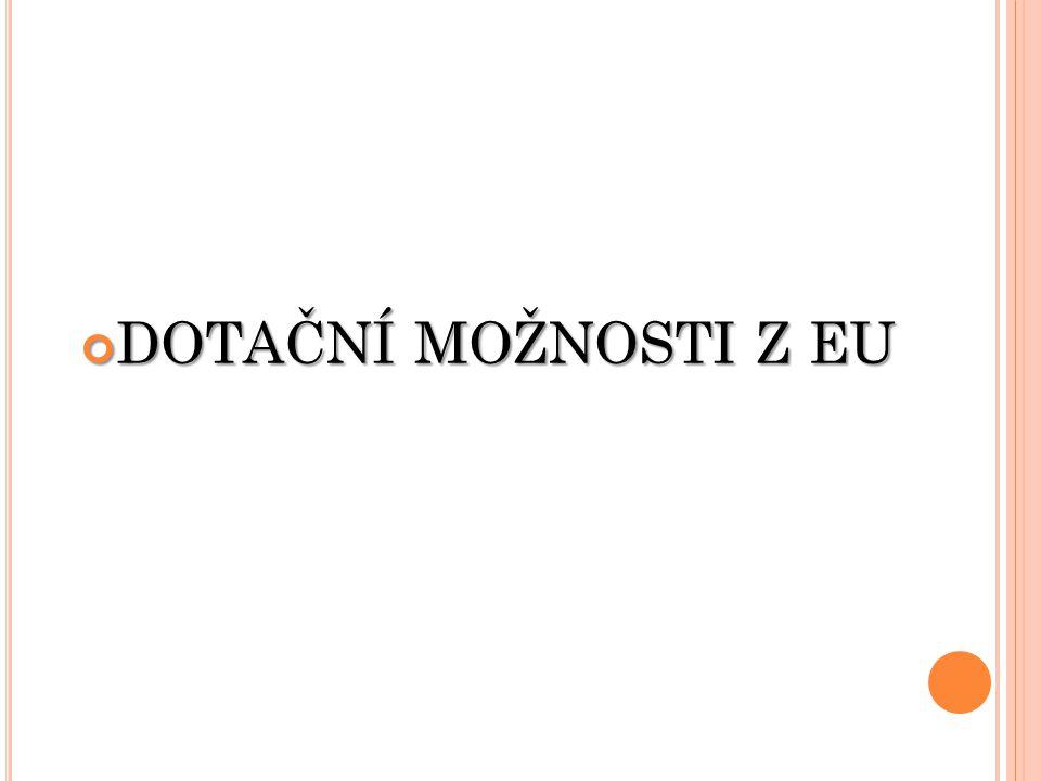 DOTAČNÍ MOŽNOSTI Z EU