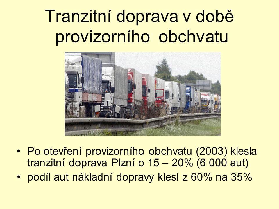 Tranzitní doprava v době provizorního obchvatu