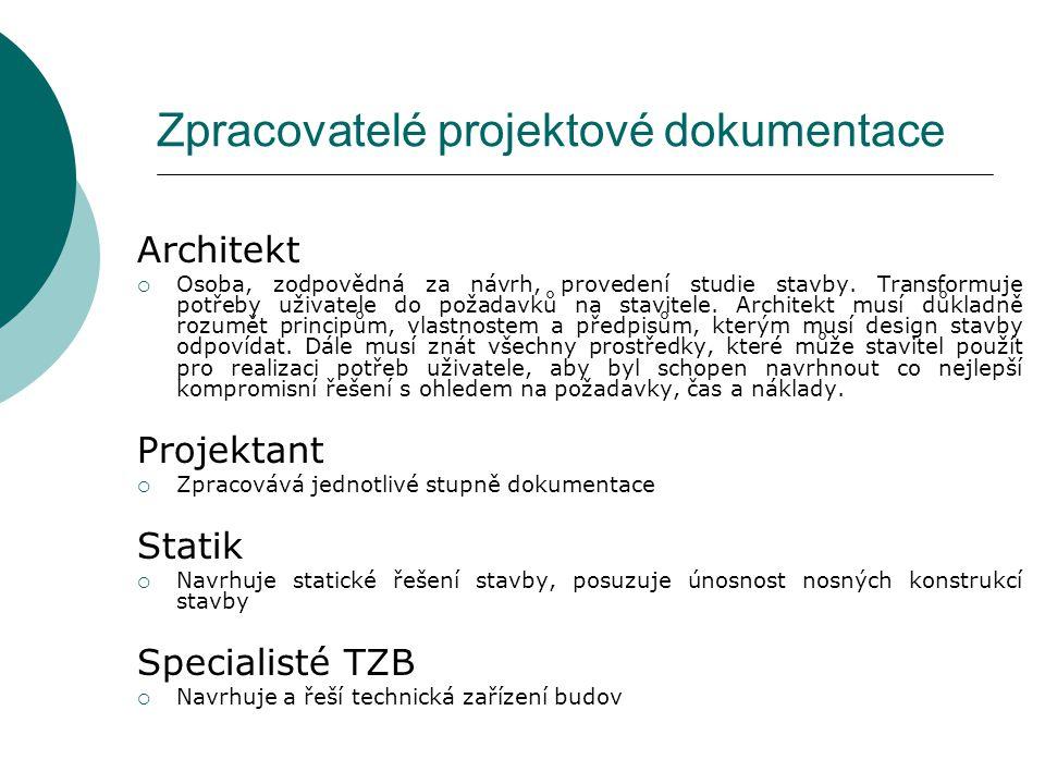 Zpracovatelé projektové dokumentace