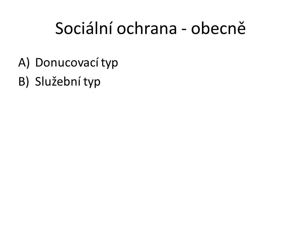 Sociální ochrana - obecně