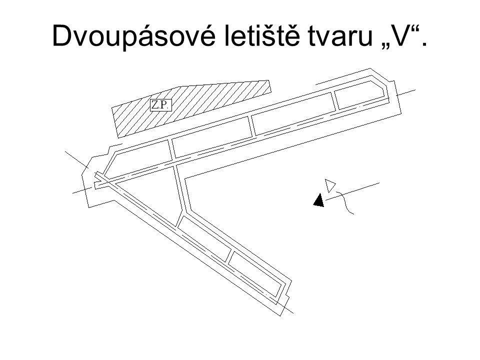 """Dvoupásové letiště tvaru """"V ."""