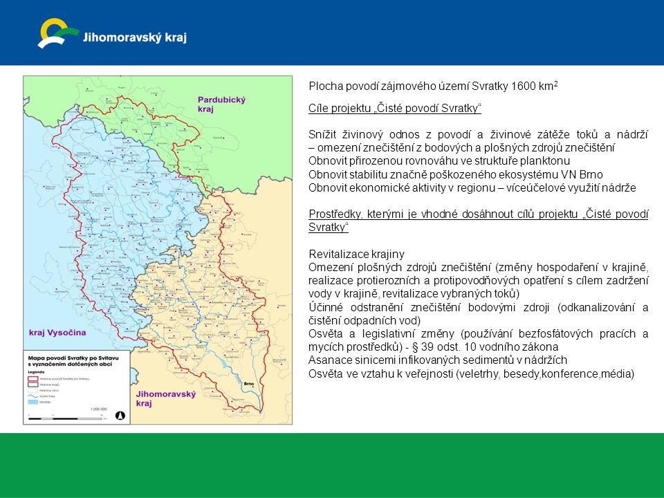 Plocha povodí zájmového území Svratky 1600 km2