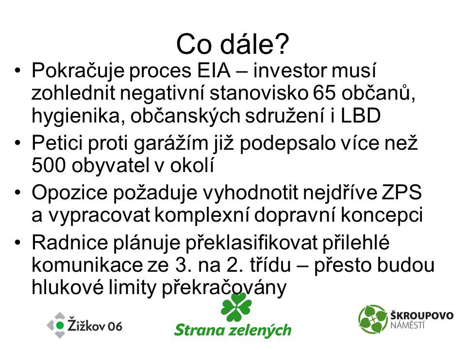Co dále Pokračuje proces EIA – investor musí zohlednit negativní stanovisko 65 občanů, hygienika, občanských sdružení i LBD.