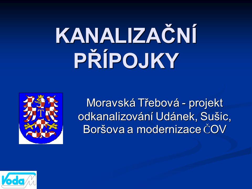KANALIZAČNÍ PŘÍPOJKY Moravská Třebová - projekt odkanalizování Udánek, Sušic, Boršova a modernizace ČOV.