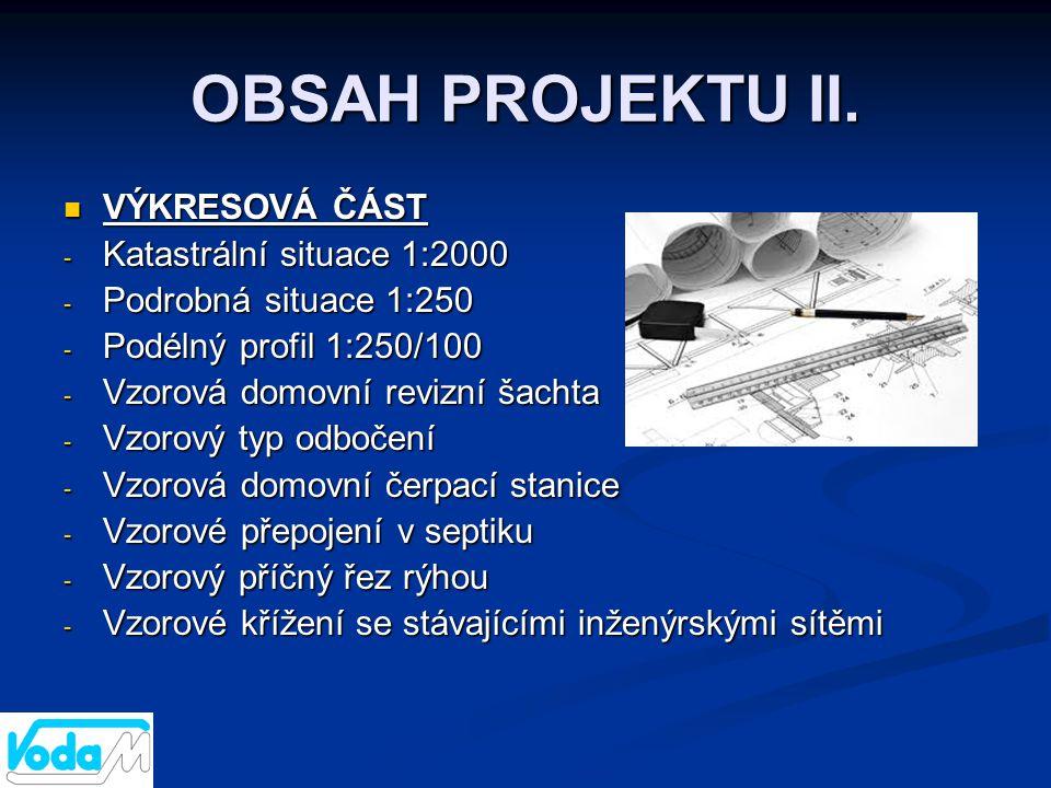 OBSAH PROJEKTU II. VÝKRESOVÁ ČÁST Katastrální situace 1:2000