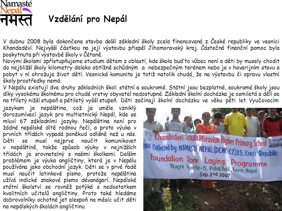 Vzdělání pro Nepál.