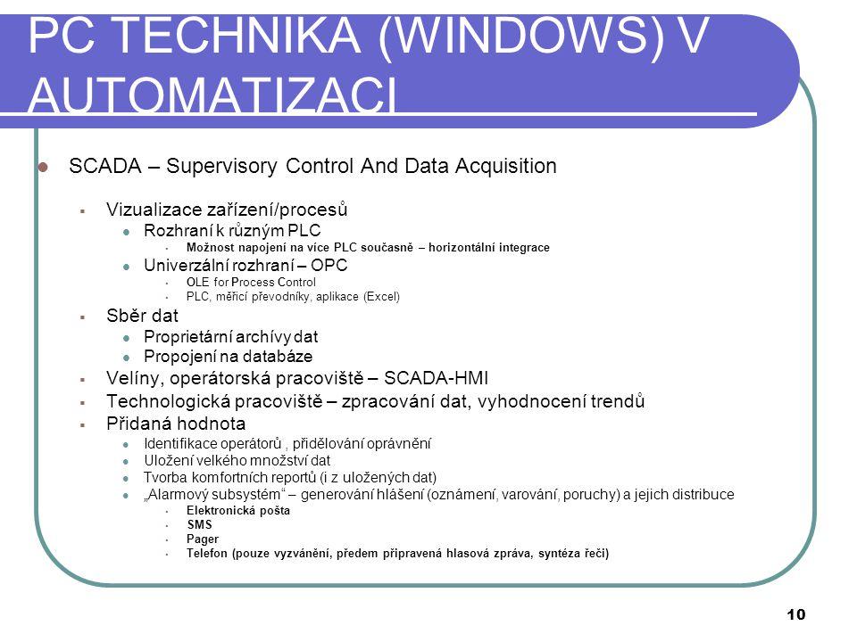 PC TECHNIKA (WINDOWS) V AUTOMATIZACI