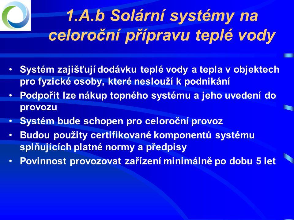 1.A.b Solární systémy na celoroční přípravu teplé vody