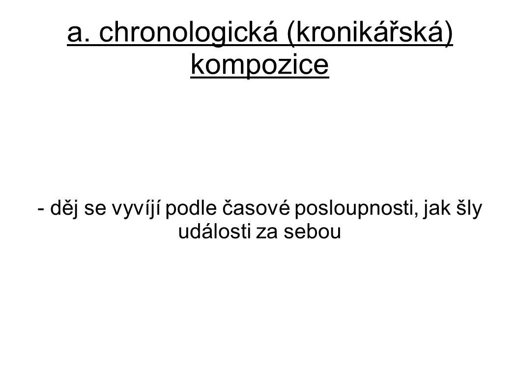 a. chronologická (kronikářská) kompozice