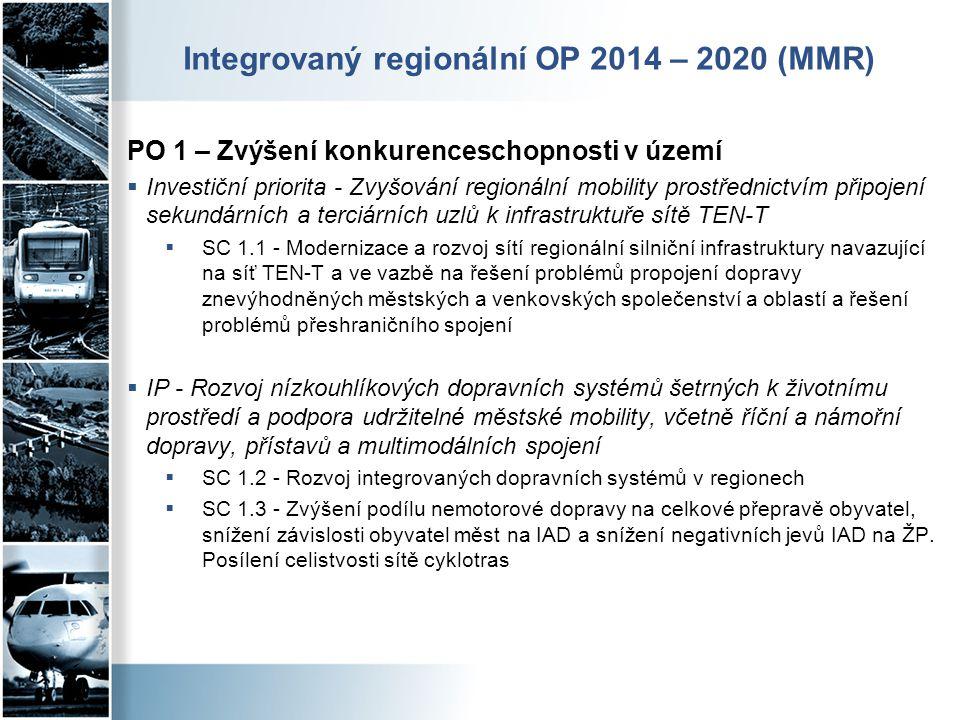 Integrovaný regionální OP 2014 – 2020 (MMR)