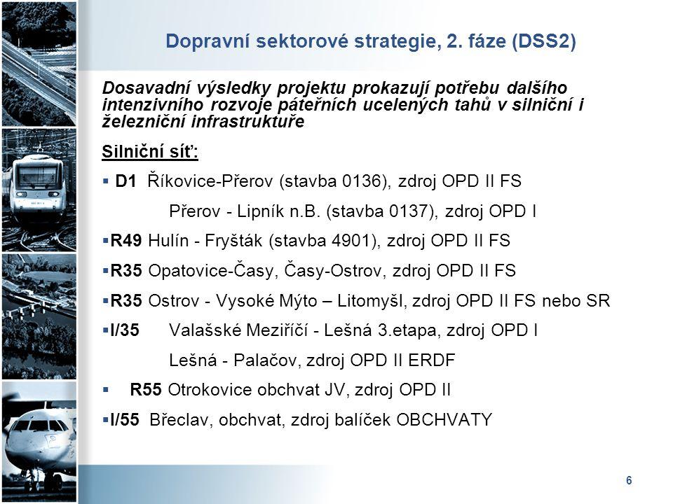 Dopravní sektorové strategie, 2. fáze (DSS2)