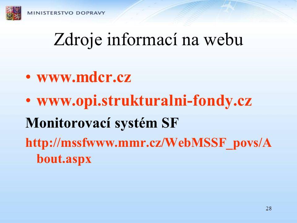 Zdroje informací na webu