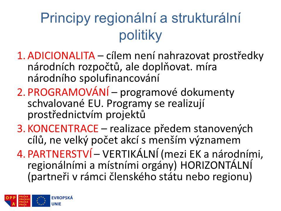 Principy regionální a strukturální politiky
