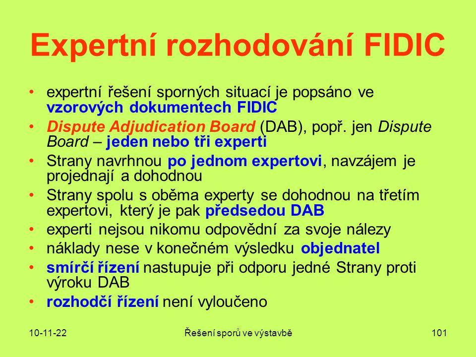 Expertní rozhodování FIDIC