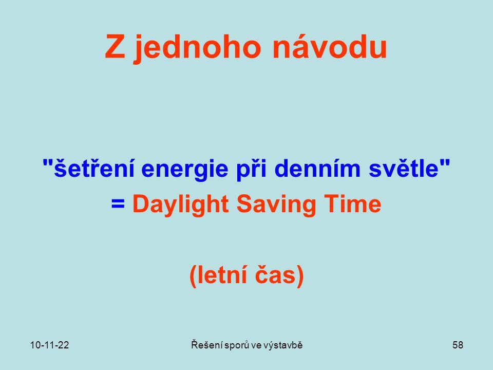 šetření energie při denním světle