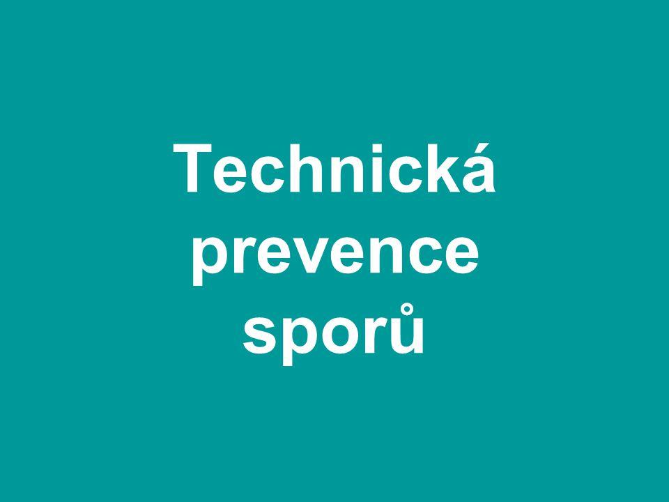Technická prevence sporů