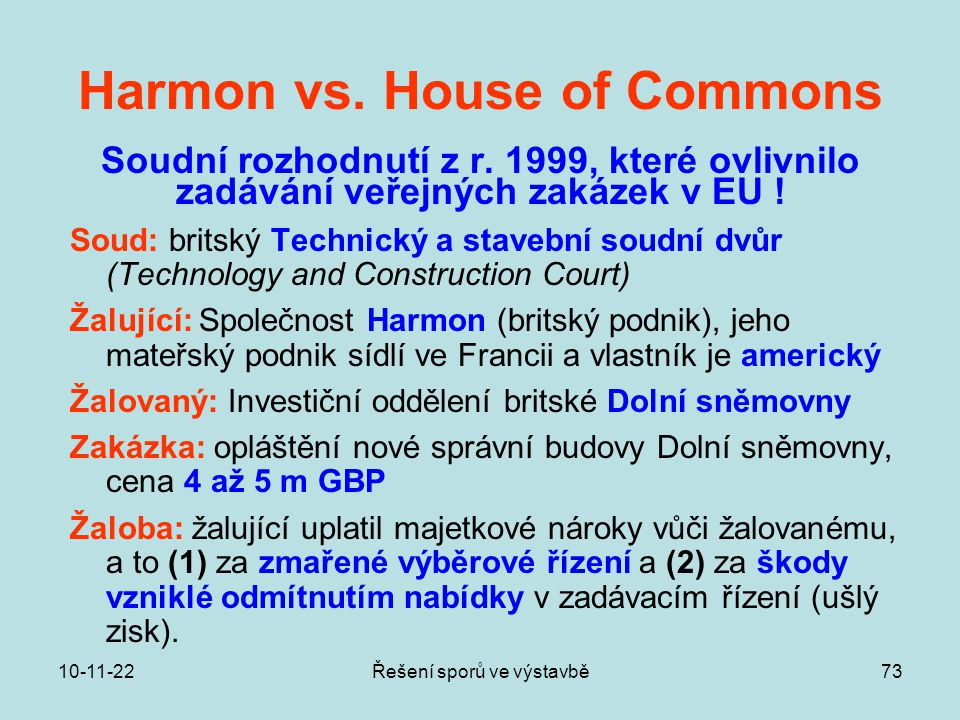 Harmon vs. House of Commons