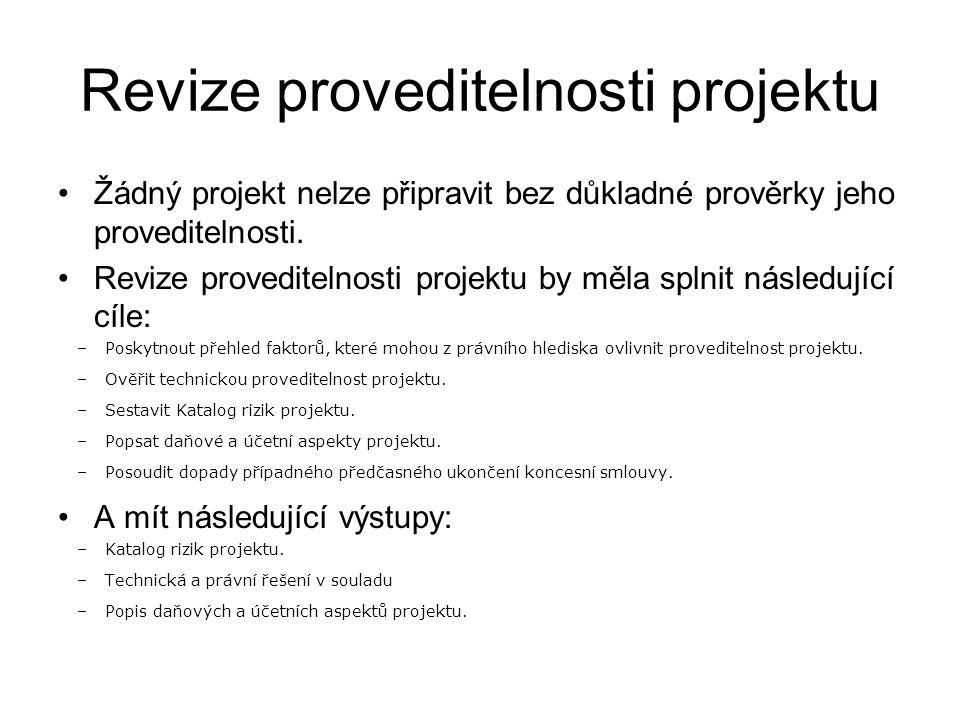 Revize proveditelnosti projektu