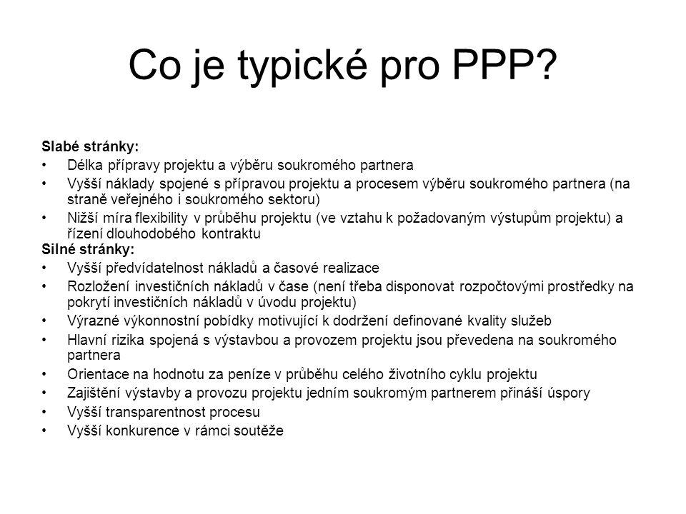 Co je typické pro PPP PPP Slabé stránky: