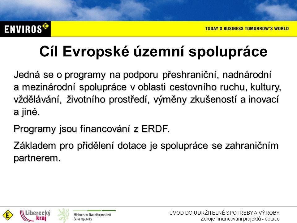 Cíl Evropské územní spolupráce